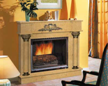 03356466 Portal marmurowy Madera Palace do wkładów żeliwnych standardowych (kolor: Mocca Creme)