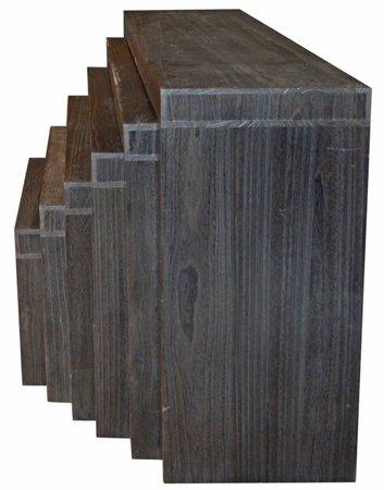 DOSTAWA GRATIS! 52969128 Komplet 6 stołów ciemnych