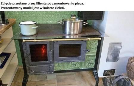 Kuchnia kaflowa, angielka 11kW Dominika z szybą i wężownicą (kolor: zieleń) 92238170