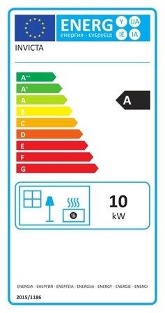 BINIKTA Piec wolnostojący Invicta 10kW Fifty (średnica wylotu spalin: 150mm, kolor: antracyt) - spełnia anty-smogowy EkoProjekt 86854960