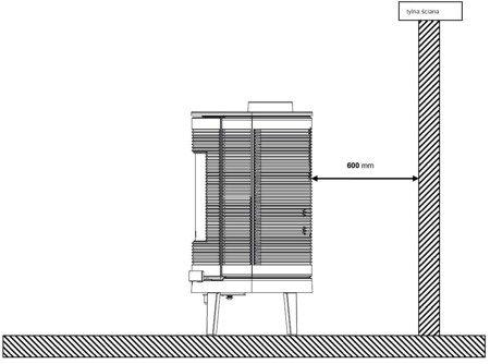 BINIKTA Piec wolnostojący Invicta 9kW Kaori (wylot spalin: góra lub z tyłu, kolor: antracyt) - spełnia anty-smogowy EkoProjekt 86865689