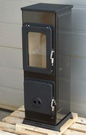 DOSTAWA GRATIS! 88869078 Piec wolnostojący Thorma 2,5-7,5kW Bozen na drewno i węgiel (kolor: czarny, spaliny: tył) - spełnia anty-smogowy EkoProjekt