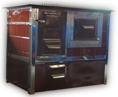 DOSTAWA GRATIS! 92276507 Kuchnia, angielka 9,5kW Monika z wężownicą (kolor: brązowy)