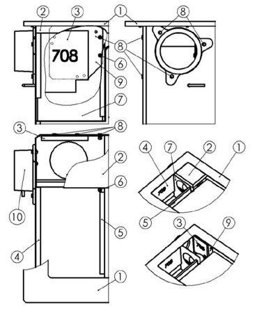 Kuchnia, angielka 6,5kW TK2-610 zabudowana z termometrem, bez płaszcza wodnego - spełnia anty-smogowy EkoProjekt 22774575