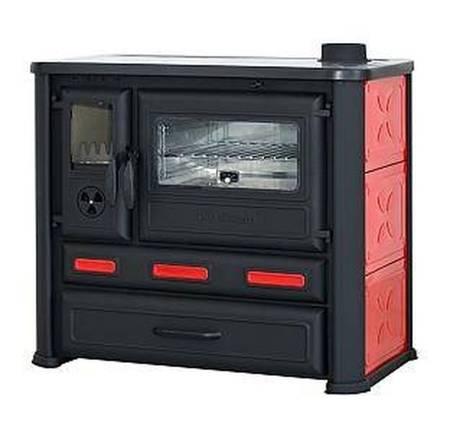 Kuchnia wolnostojąca, angielka na drewno 8-9kW, bez płaszcza wodnego (kolor: czerwony) 27776225