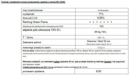 Piec wolnostojący Invicta 10kW Modena (kolor: antracyt) - spełnia anty-smogowy EkoProjekt 86876396