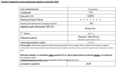 Piec wolnostojący Invicta 10kW Modena (kolor: emalia kremowa) - spełnia anty-smogowy EkoProjekt 86876394