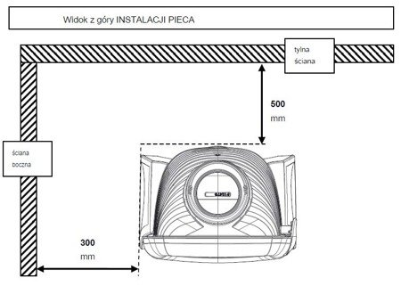 Piec wolnostojący Invicta 5kW Elo M (wylot spalin: góra, kolor: emalia biała) - spełnia anty-smogowy EkoProjekt 86865684
