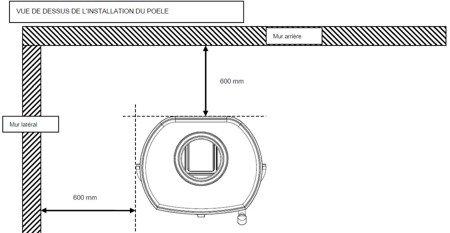 Piec wolnostojący Invicta 7kW Remilly (wylot spalin: góra, kolor: antracyt) - spełnia anty-smogowy EkoProjekt 86854918
