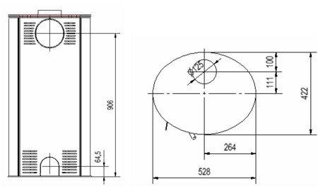 Piec wolnostojący koza 8kW AB (z panelami kaflowymi - czarny) - spełnia anty-smogowy EkoProjekt 30060589