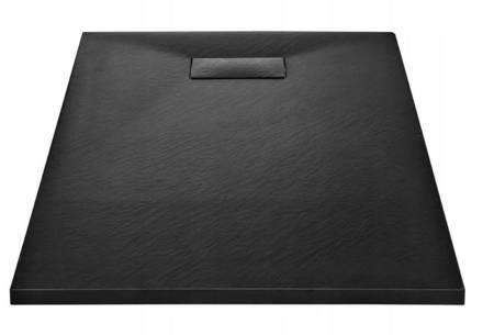 SEDEN Brodzik prysznicowy prostokatny do lazienki czarny (wymiary: 120 x 70 x 2,6 cm) 22778038