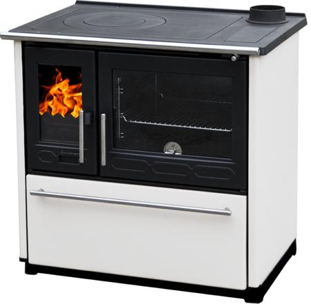 TOPSTOVE Kuchnia stalowo żeliwna z piekarnikiem 8kW, bez płaszcza wodnego (wylot spalin: 120mm, kolor: brązowy) 58477290