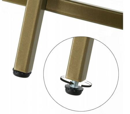 WOLAG Stolik złoty okrągły Ława złota rama szkło hartowane (szerokość: 84 cm) 24378389