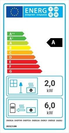Wkład kominkowy 8kW Maja BS z płaszczem wodnym, wężownicą (prawa boczna szyba bez szprosa) - spełnia anty-smogowy EkoProjekt 30041196